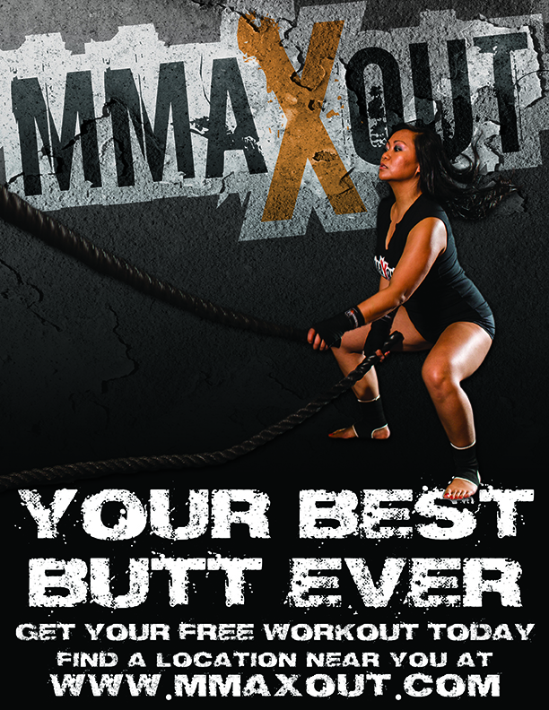 attractive fitness kickboxing flyers